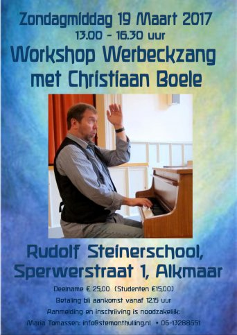 Workshop Werbeckzang met Christiaan Boele in Alkmaar