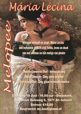 Melopee brengt Mária Lécina in de Dorpskerk te Schoorl